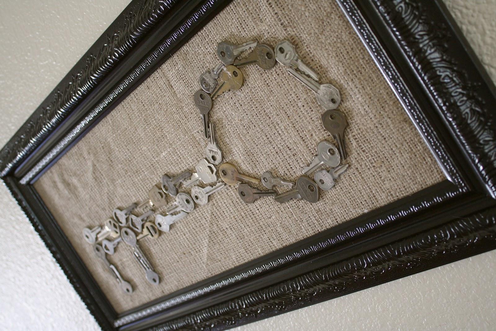 Framed key art for Art made with keys