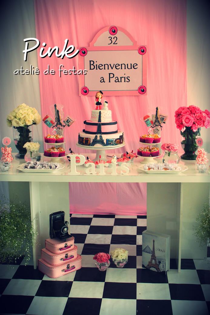 Excepcional Pink Ateliê de Festas: Festa Paris PV36