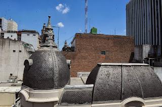 Desde el sexto piso del Banco Ciudad de Buenos Aires