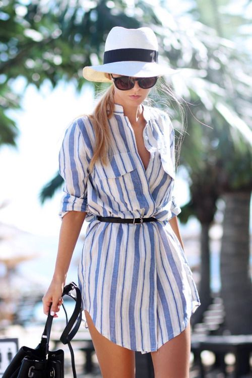 Summer Comfy Romper Marine Stripes Look