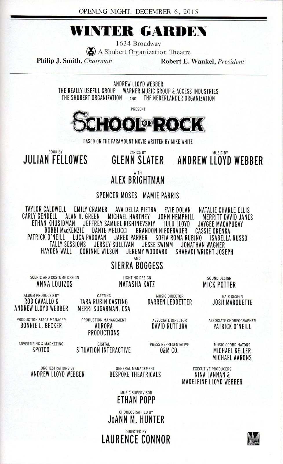 theatre u0027s leiter side 113 review of rock seen december