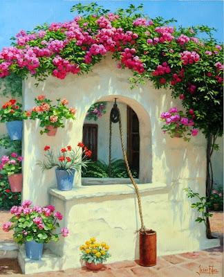 pinturas-paisajes-flores