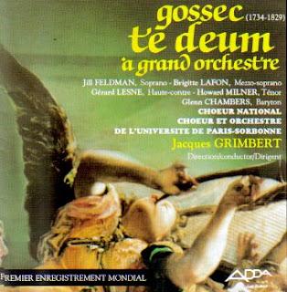 Gossec: Te Deum a Grand Orchestre