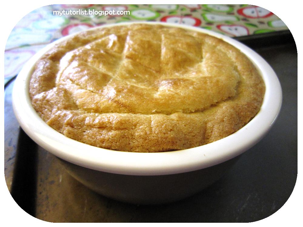 Baked Tapioca Pudding With Pineapple Bun Crust And Taro Filling