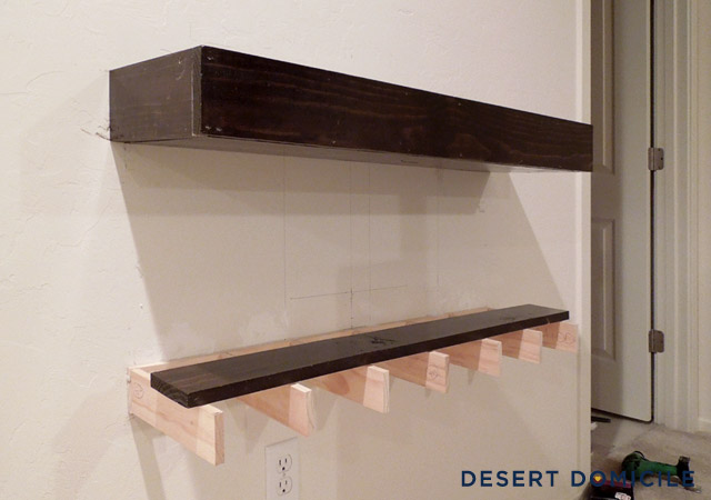 Floating Shelving diy chunky wooden floating shelves: round 2 | desert domicile