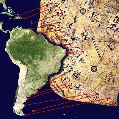 Aparente-correlacion-de-la-costa- venezolana-y-brasileña-con-el-Mapa-de-Piri Reis