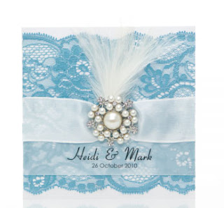 Pearl and Lace Wedding Invitation