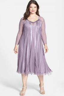 Komarov Embellished Chiffon & Charmeuse Dress (Plus Size)