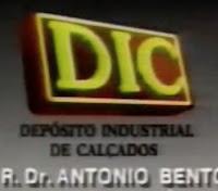 Propaganda da rede de lojas de calçados DIC: famosa no cenário paulista em meados dos anos 90.