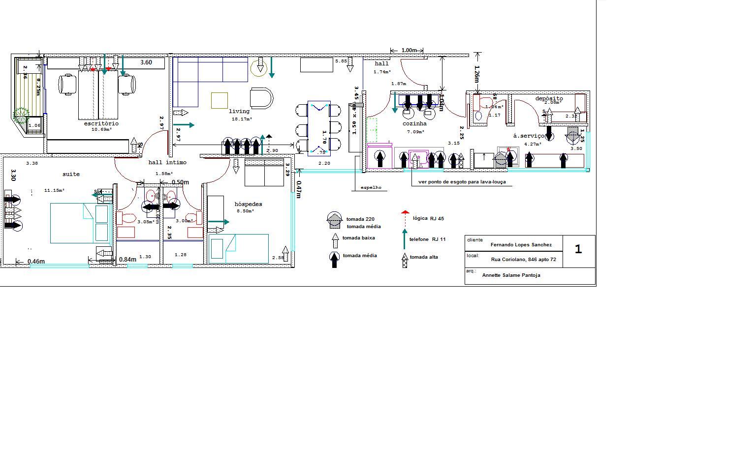 arquitetura & decor: um projeto de reforma plantas e algúns detalhes #317C7C 1536 960