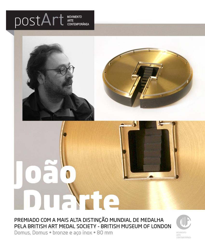 El escultor portugués Joao Duarte distinguido por la British Art Medal Society
