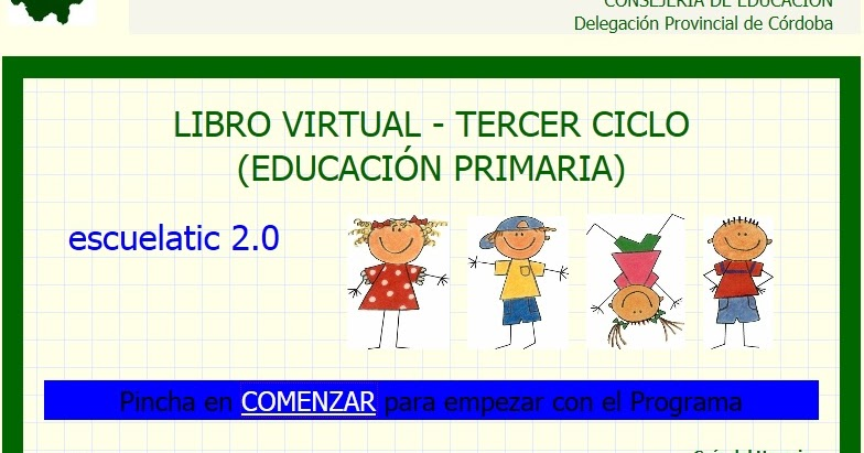 Recursos para educaci n primaria libro virtual tercer ciclo for Junta de andalucia educacion oficina virtual