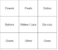 Julie's Bingo Grid