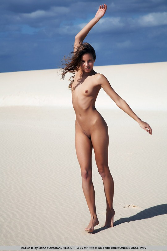 being nude in the desert