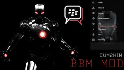 BBM Mod Versi Iron Man Terbaru
