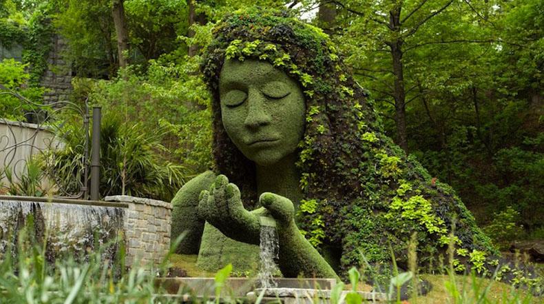 Increíble esculturas vivientes gigantes en el Atlanta Botanical Gardens