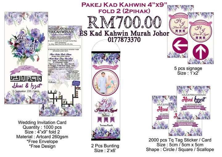Stiker Banting Kad Kahwin Murah Johor Pakej Kad Kahwin 2 Pihak