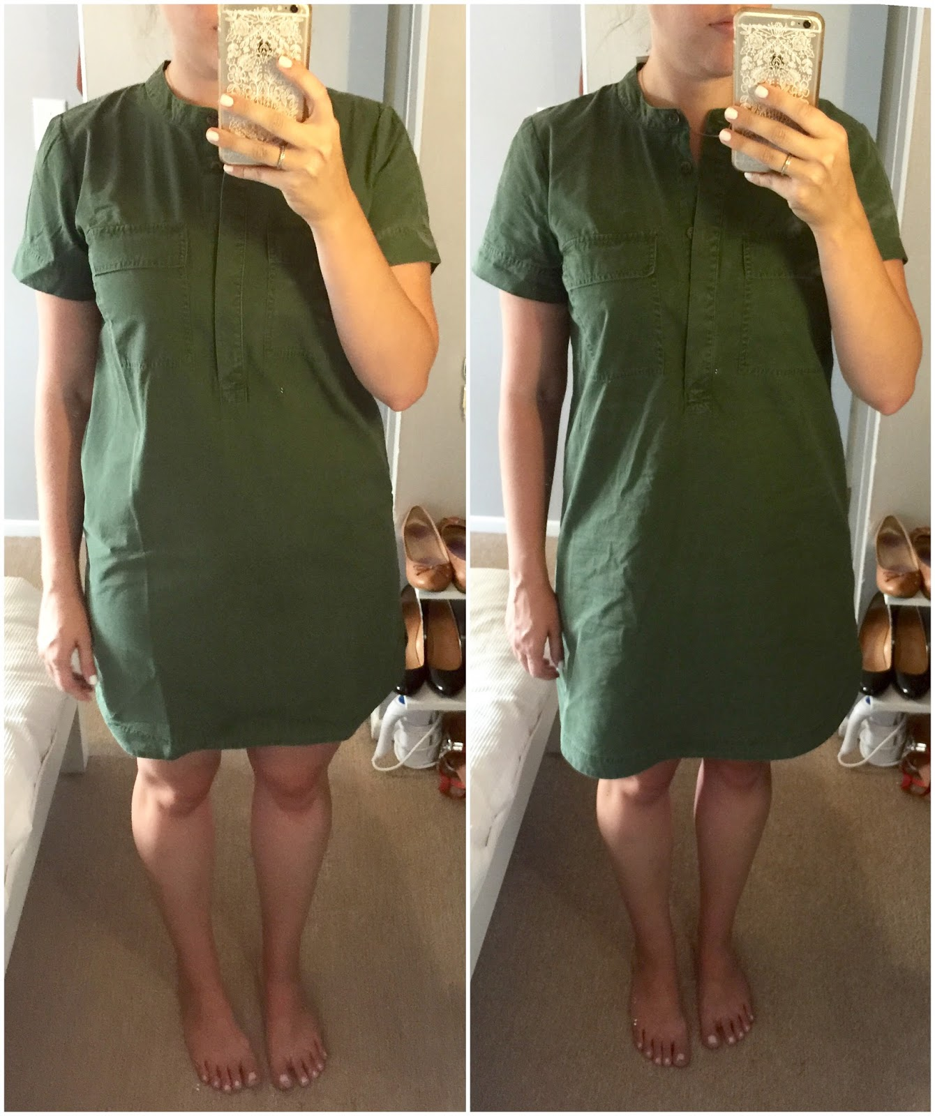 FACTORY MILITARY SHIRTDRESS,