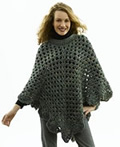 Free Crochet Pattern 50189-C Martha Stewart 'Coming Home' Poncho