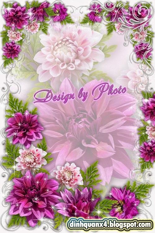 Flower photo frame - Ah, dahlias, dahlias