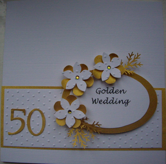 Deb\'s Cards: Golden Wedding Card