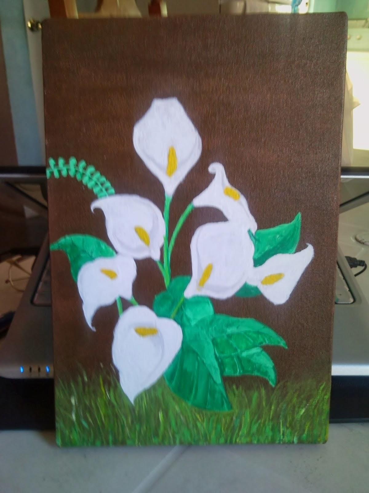 Dibujando Ando Flores De Alcatraces Calla Flowers