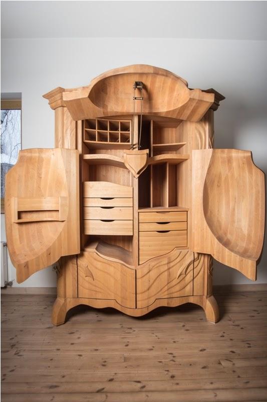 Необычная мебель из дерева фото