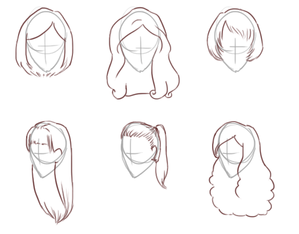 how to draw realistic wavy hair