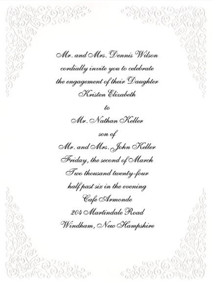 Engagement party invitations and you on paper formal casual elegance stopboris Choice Image