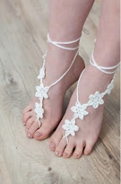 Buy the pattern and kit to make these barefoot sandals