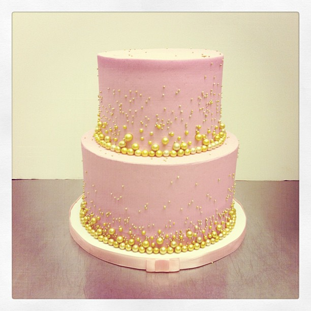 Pink And Gold Cake Alessandra S 1st Birthday Pinterest Gold