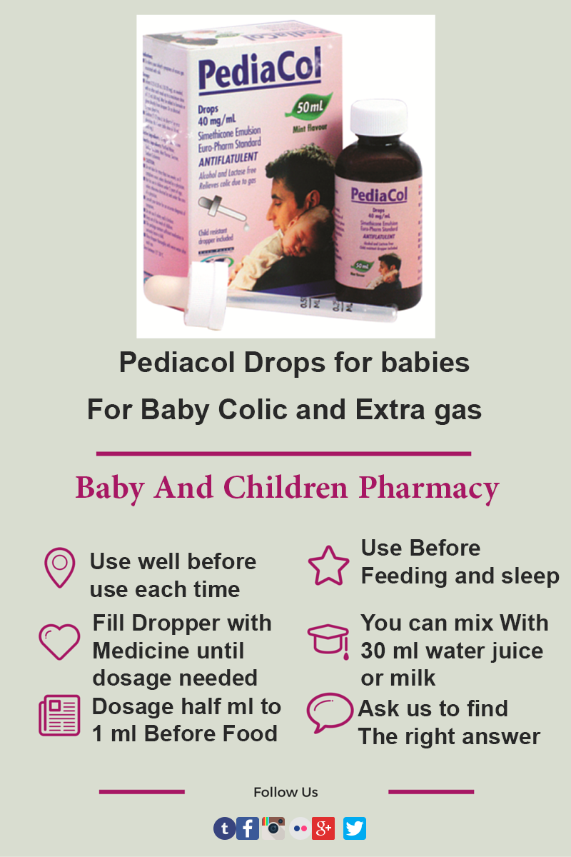 Pediacol Drops Dosage For Babies And Children Babies And