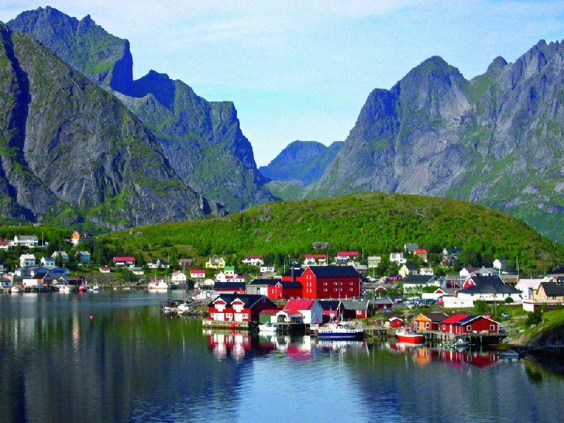 Tiny towns Rhine, Norway
