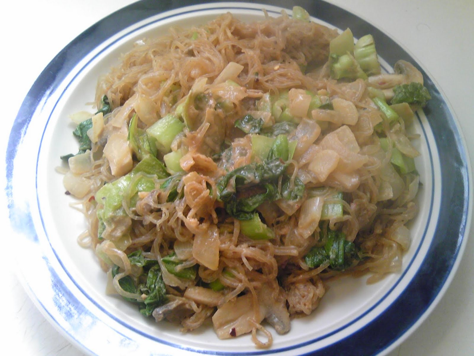 Eating For Wellness: Sesame Miso Kelp Noodles with Baby Bok Choy ...