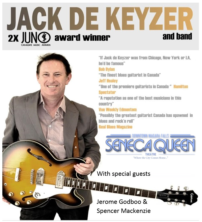 Jack de Keyzer, Jerome Godboo and Spencer Mackenzie @ Seneca Queen Theatre in Niagara Falls