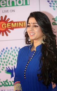 Actress Charmee Kaur Latest Picture Gallery at Memu Saitam Dinner with Stars Red Carpet  33)