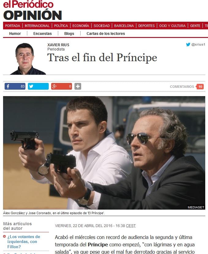 Articles publicats a El Periódico