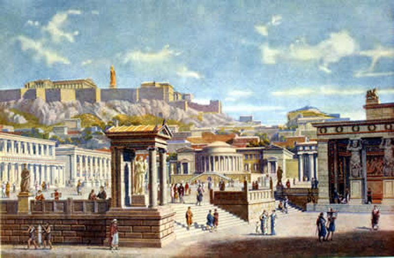 MY ARCHITECTURAL MOLESKINE®: THE AGORA OF ATHENS, URBANISM