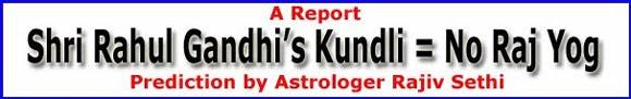 Research on Shri Rahul Gandhi's Horoscope!