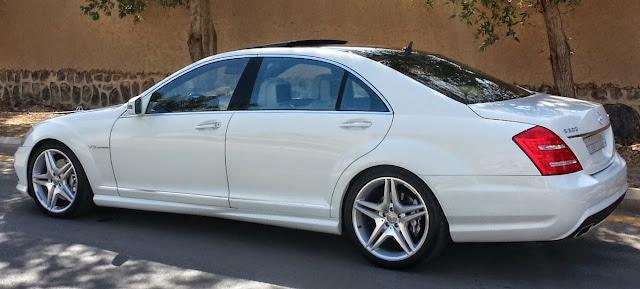 mercedes s600 w221 white long amg