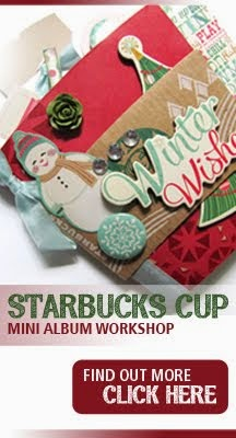 STARBUCKS CUP MINI ALBUM WORKSHOP