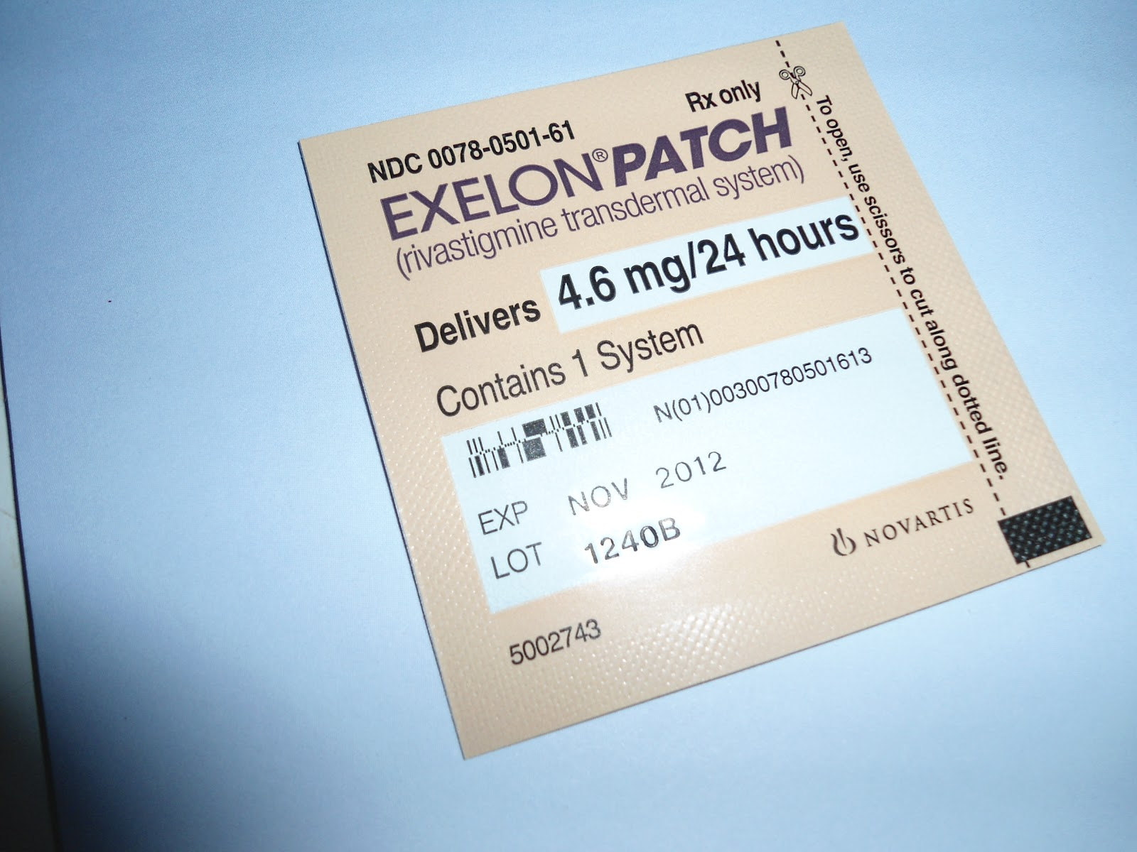 Exelon patch 4.6 mg
