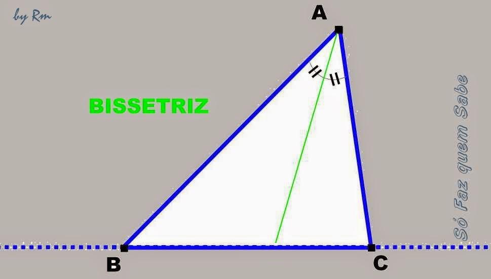 Bissetriz de um dos ângulos do triângulo
