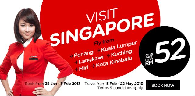 Airasia Air Ticket Visit Singapore Air Ticket