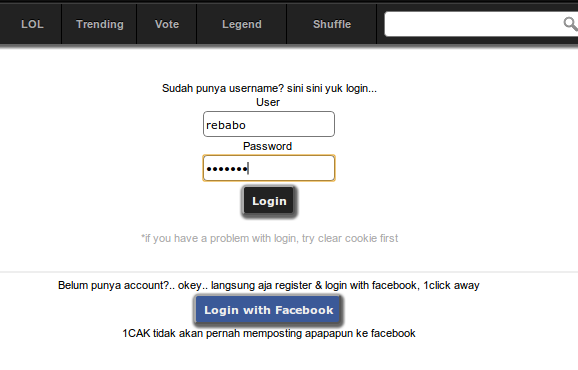 cara login dan upload foto di 1cak 1cuk