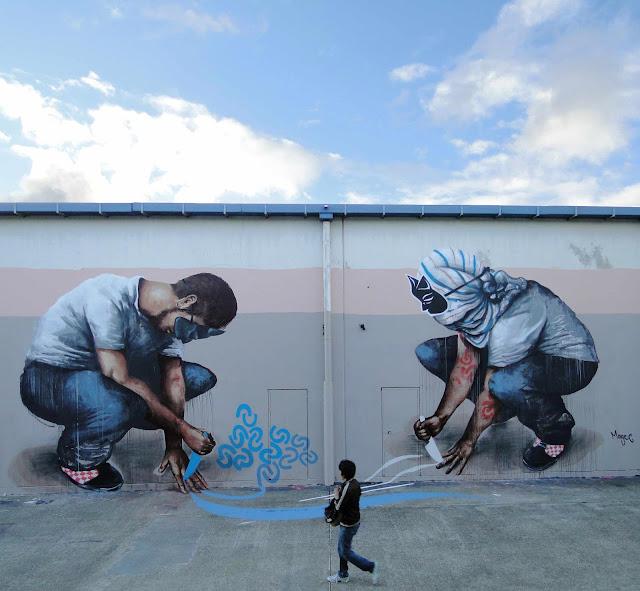 Fintan magee the showdown new mural in sydney australia for Australian mural