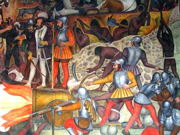Resultado de imagen para diego rivera murales la conquista