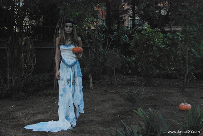 dare to diy: diy halloween: total look novia cadáver (disfraz +