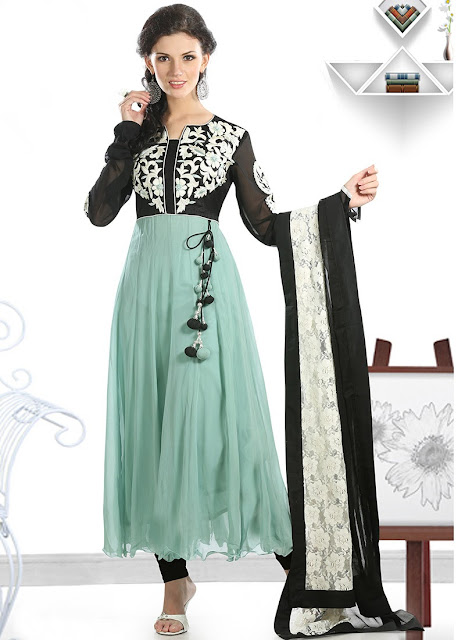Indian Anarkali Suits Designs For Women 2013