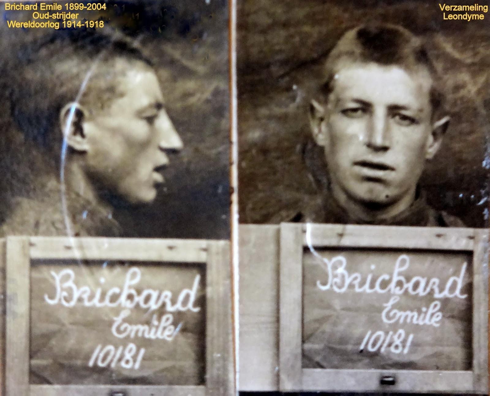 Oud-strijder wereldoorlog 1914-1915,Emile Brichard 1899-2004. foto: legerarchief Evere